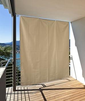vertikaler sonnenschutz windschutz sichtschutz balkon terrasse creme 230 x 140 cm