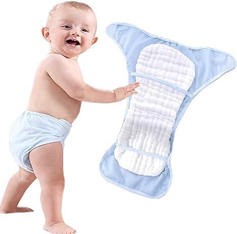 Pañales de algodón reutilizables para bebé, tamaño 2, para 0 – 24 ...