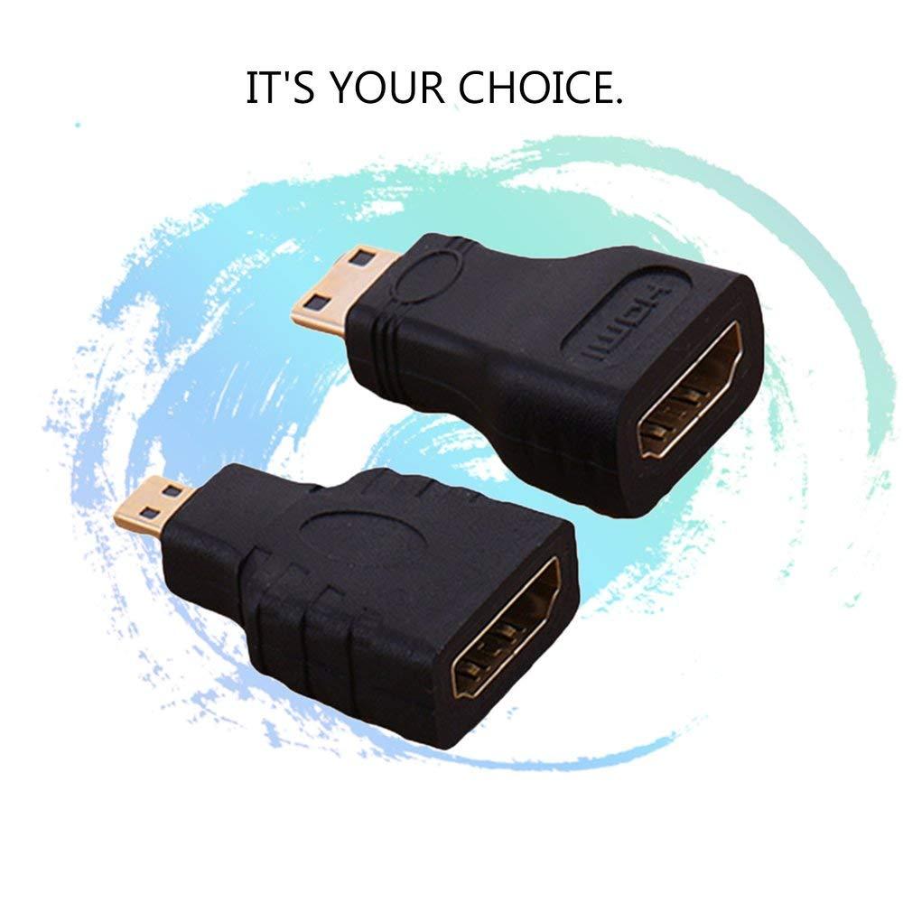 Hdmi a Mini convertitore Placcato Oro Connettore Adattatore prolunga Nero DGdolph Micro Adattatore Hdmi