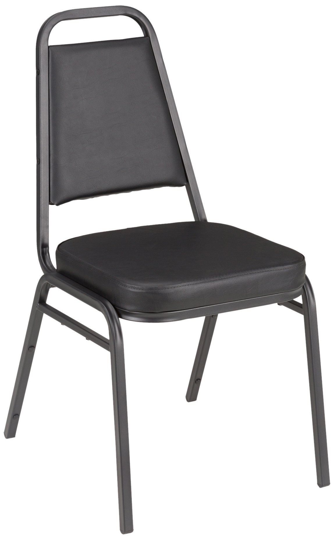 Vinyl Stacking Banquet Chair with Square Back, 18'' Seat Height, Black, ALT-200VBK-SO (Pack of 4)