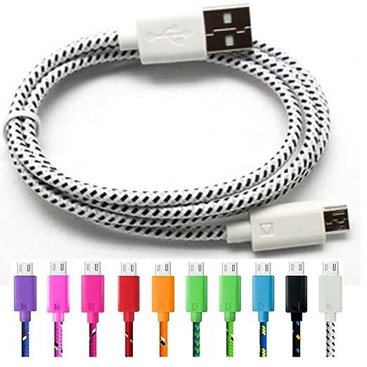 10 opinioni per 3-Pack 3FT/1M TQP-CK Cavo Micro USB Nylon Intrecciato per Android, Samsung, HTC,