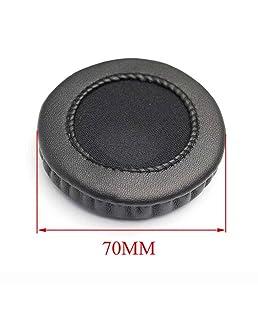 Bobury Universal de la PU del Cuero Earshield Cojines de Esponja de Auriculares Copa Relleno Cubra Headset Earcaps a Prueba de Polvo portátil