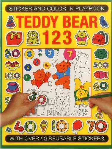 Sticker and Color-in Playbook: Teddy Bear 123: With Over 60 Reusable Stickers