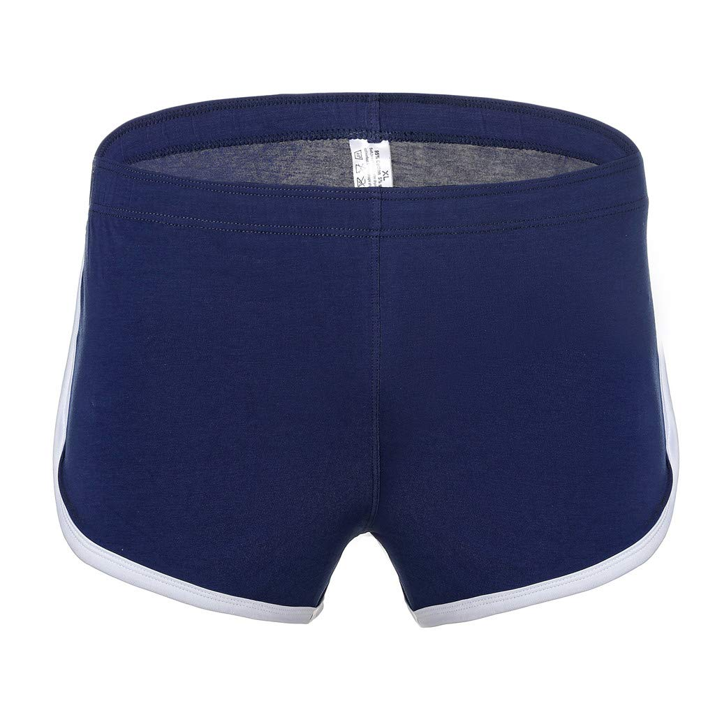 NUWFOR Men's New Summer Cotton Fitness Fast-Drying Sweat-Absorbing Bodybuilding Shorts(Blue,US:S Waist26.0-30.7'')