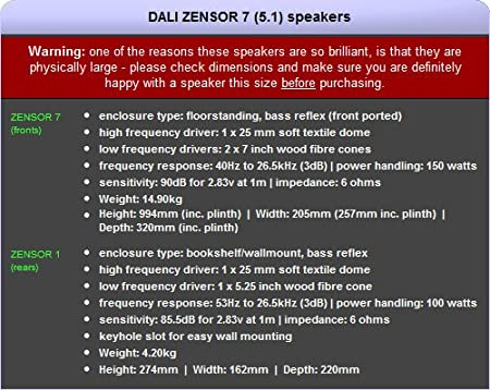 Dali zensor 7 51 home cinema speaker package walnut 5 year 5 year guarantee 2 year guarantee on sub free next working day delivery most mainland uk addresses amazon hi fi speakers publicscrutiny