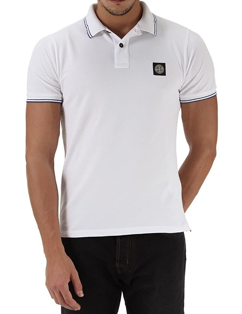 Stone Island Top Polo Blanco - XL, Blanco: Amazon.es: Ropa y ...