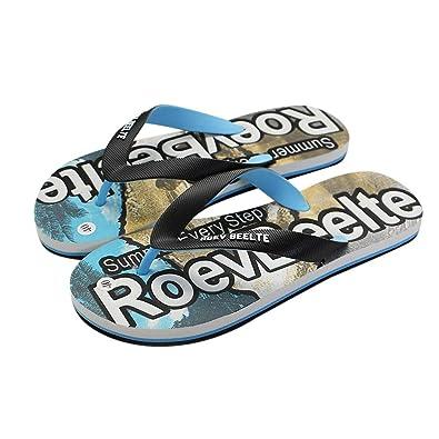 263e5d366 Men Summer Flip Flops Flat Clip Toe Slippers Comfortable Outdoor Shoes  Casual Beach Flip Flops for