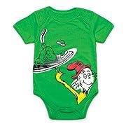 Unisex-baby Newborn Dr. Seuss The Green Eggs Graphics Short Sleeve Bodysuit (3M)
