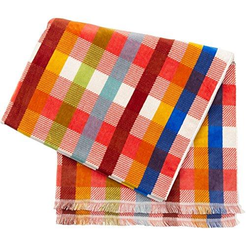 Pendelton Woolen Mills Inc WSL Oversized Jacquard Towel Laguna Pla Red