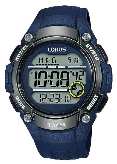 Lorus Reloj Digital para Hombre de Cuarzo con Correa en Silicona R2329MX9: Amazon.es: Relojes