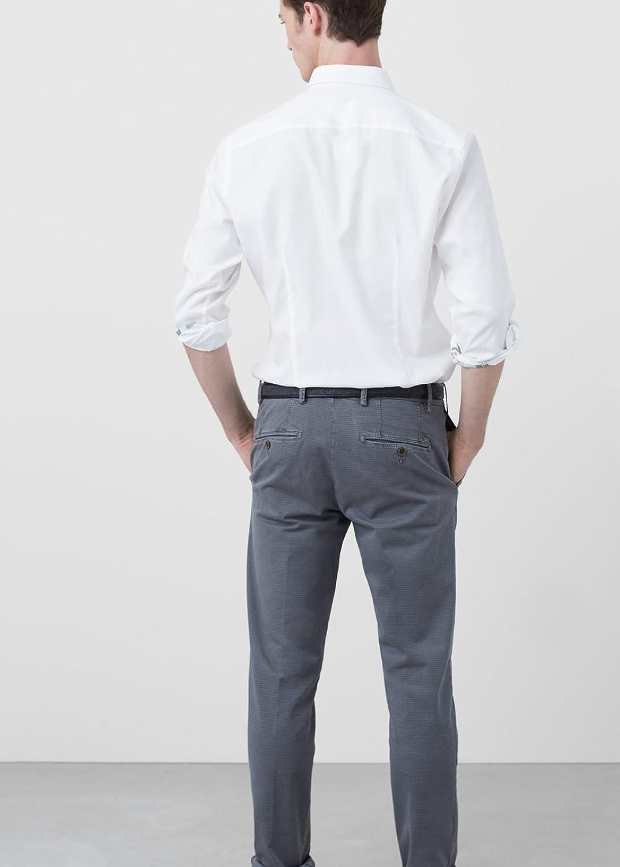 MANGO MAN - Slim-fit micro print Trousers Casual chinos Shop