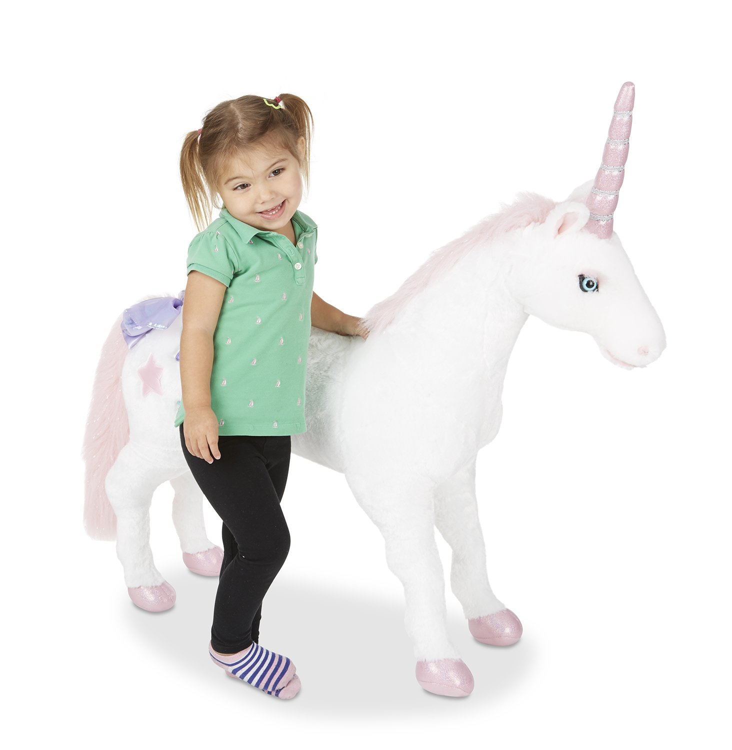 Melissa & Doug Giant Unicorn - Lifelike Stuffed Animal (over 0.5 meters tall) Melissa and Doug 8801