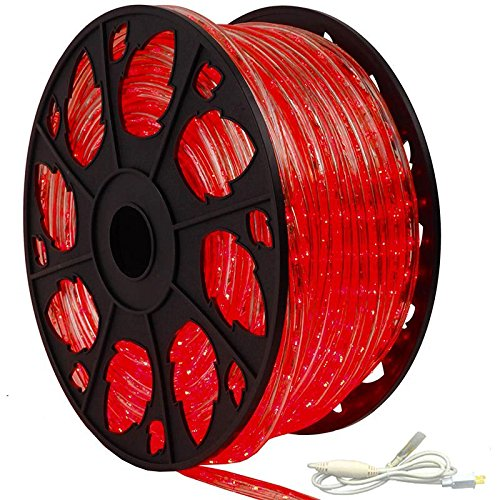 Kit Lighting Standard (AQL 150' Outdoor Rated LED Rope Light Kit - 120V - UL Listed (Red, Standard Kit))