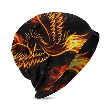 QWERDF Pájaro del fénix ardiente de Fuego con Gorros para bebés ...