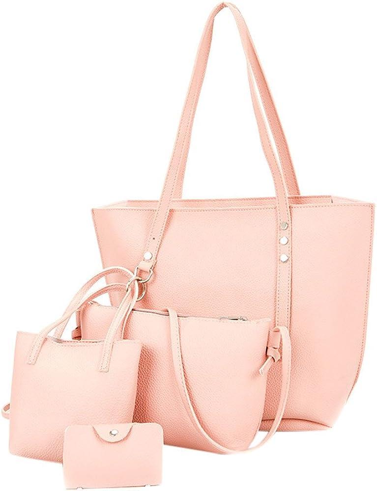rouge sac /à main rose gris blanc brun Yvelands Sacs /à main port/és /épaule femme,4pcs femmes mod/èle en cuir sac /à bandouli/ère bandouli/ère portefeuille Noir