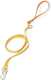 product image for West Paw Strolls Dog Leash with Comfort Grip, Small, Goldenrod - Tangerine, Made in USA
