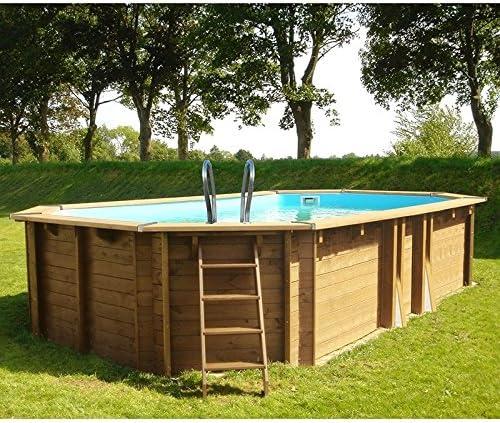 Gre KWOV436 - Piscina de madera ovalada 436 x 336 x 119 cm: Amazon ...