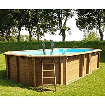 Gre KWOV436 - Piscina de madera ovalada 436 x 336 x 119 cm ...