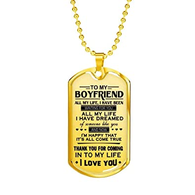 AZ Gifts Inspiration Quote To My Boyfriend Necklace Pendant