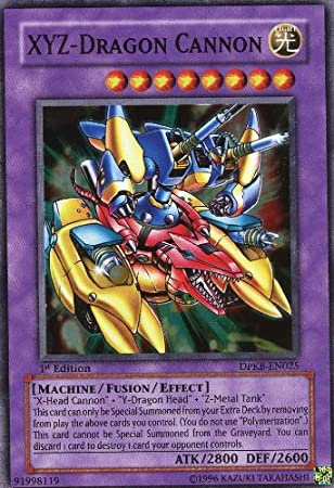 Yu-Gi-Oh! - XYZ-Dragon Cannon (DPKB-EN025) - Duelist Pack: Kaiba - 1st Edition - Super Rare by Yu-Gi-Oh!: Amazon.es: Juguetes y juegos