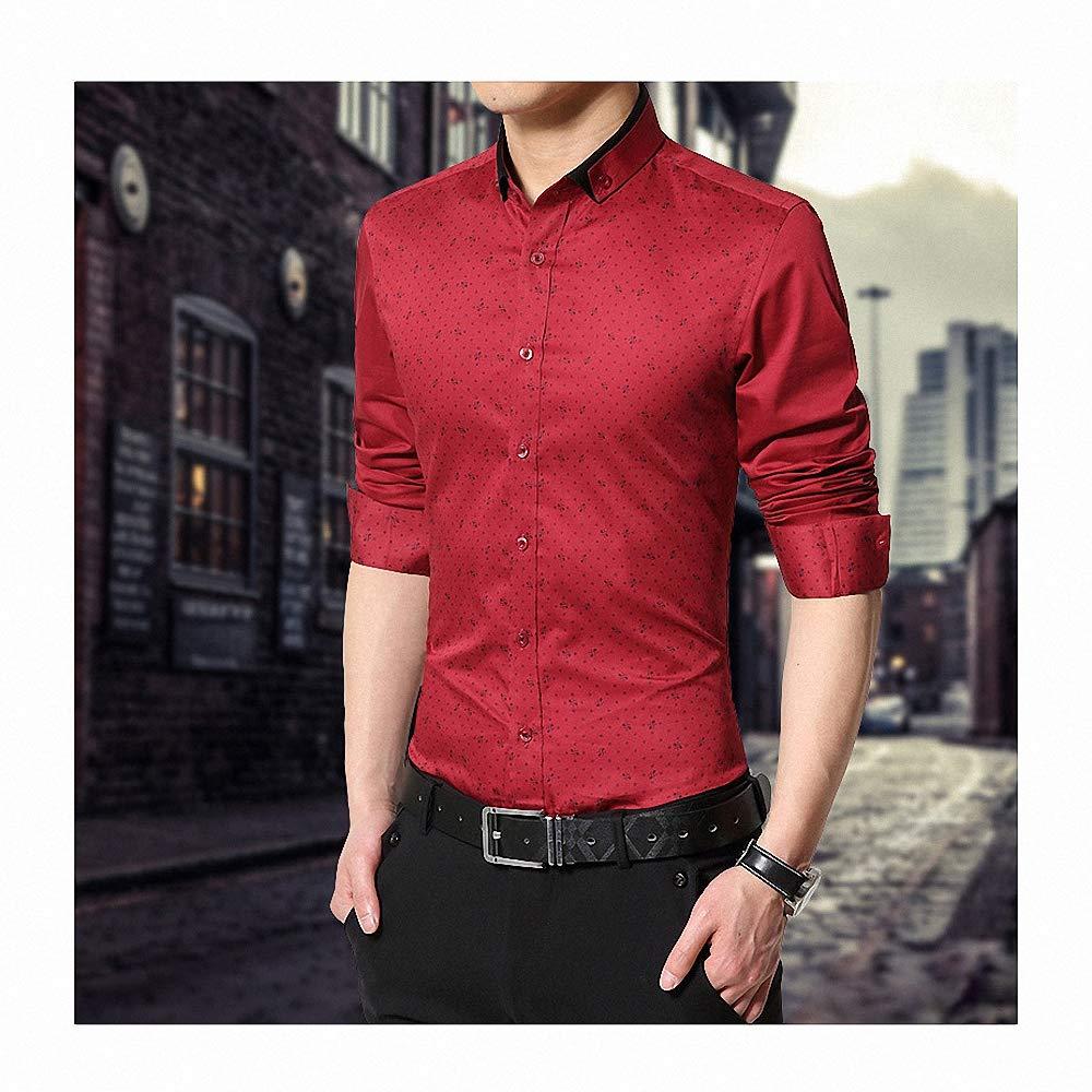 Goobester Plus Print Polka Dot Pattern Tuxedo Shirt 1197