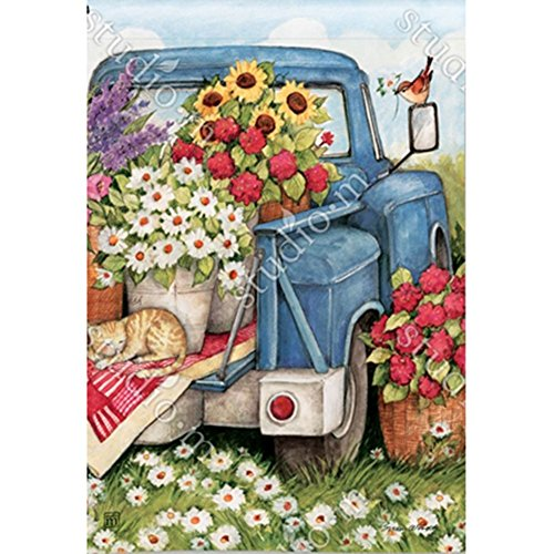 Magnet Works, Ltd. Flower Pickin' Time BreezeArt Garden Flag by Magnet Works, Ltd.