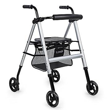 Amazon.com: ELENKER ligero portátil con ruedas andador con ...