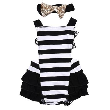 cb61d0b41 Amazon.com  Newborn Kids Baby Girls Clothes Lace Jumpsuit Romper ...