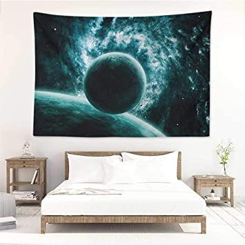 Amazon Com Space Wall Blankets Solar System Landscape With