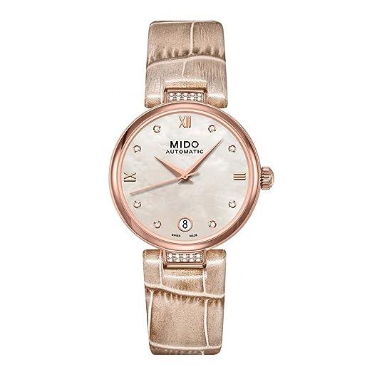 Mido Reloj Analógico para Mujer de Automático con Correa en Acero Inoxidable M022.207.66.116.12: Amazon.es: Relojes
