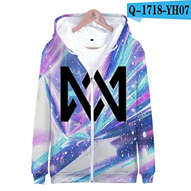 Amazon.com: WEEKEND SHOP Marcus &Martinus 3D Zipper Sweatshirt Oversized Pullover Hoodies Sweatshirt: Clothing