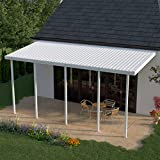 Heritage Patios 22 ft. x 10 ft. White Aluminum Patio Cover (5 Posts / 20 lb. Moderate Snow Areas)