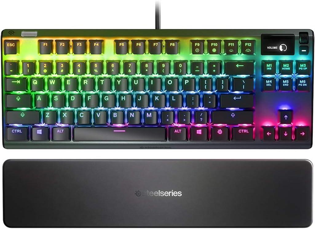 SteelSeries Apex Pro TKL - Teclado mecánico para juegos con pantalla inteligente OLED (renovado)
