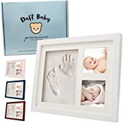 Baby Handprint | Footprint Kit, Baby Picture Frame, Top Baby Gifts, Shower Gifts, Newborn Baby Keepsake Frames (Navy Blue)