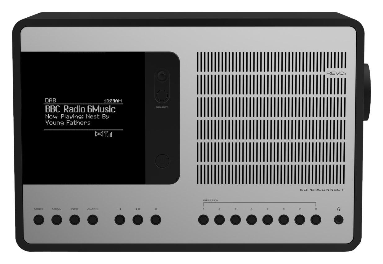 Revo SuperConnect Multi-Format Deluxe Radio - Matte Black/Silver