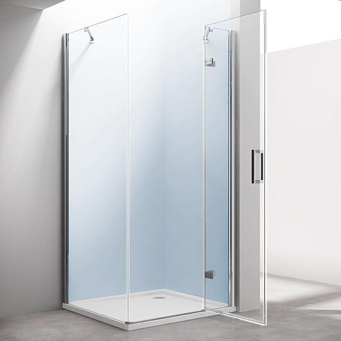 TBH: 90 x 120 x 195 cm Mampara de ducha cabina manhattan05 K, incluye plato de ducha en Blanco 4 cm Alto, 8 mm de cristal de seguridad monocapa Klarglas, incluye Nano