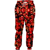 Personality 3D Full Printed Man Red Cherry Sweatpants Funny Unisex Pants
