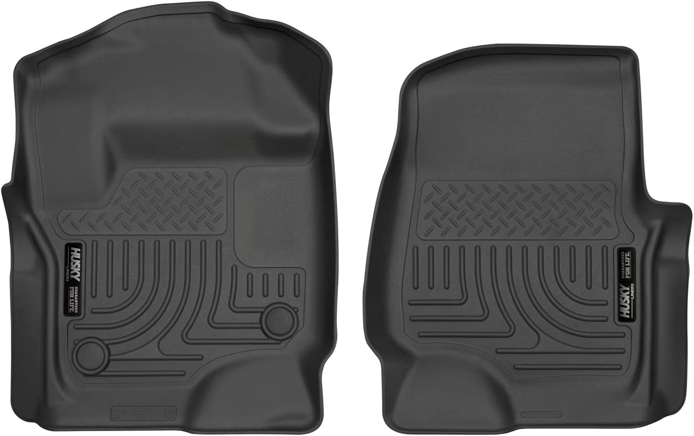 Amazon Com Husky Liners Fits 2017 19 Ford F 250 F 350 Crew Cab Supercab With Factory Carpet Weatherbeater Front Floor Mats Automotive