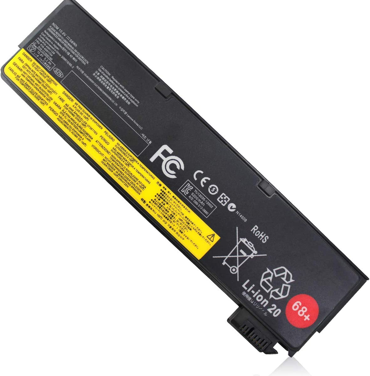 X240 6Cell 68+ (0C52862) Battery Compatible with Lenovo T440 T440s T450 T450s T460 T460p T550 T560 W550s X250 X260 X270 45N1124 45N1125 45N1128 45N1127