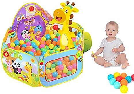 Imagen deSKL Piscina de bolas, Parque para bebés / niños Piscina de bolas Piscina interior y exterior con niños pequeños Juguetes para niños Regalos (bolas no incluidas)