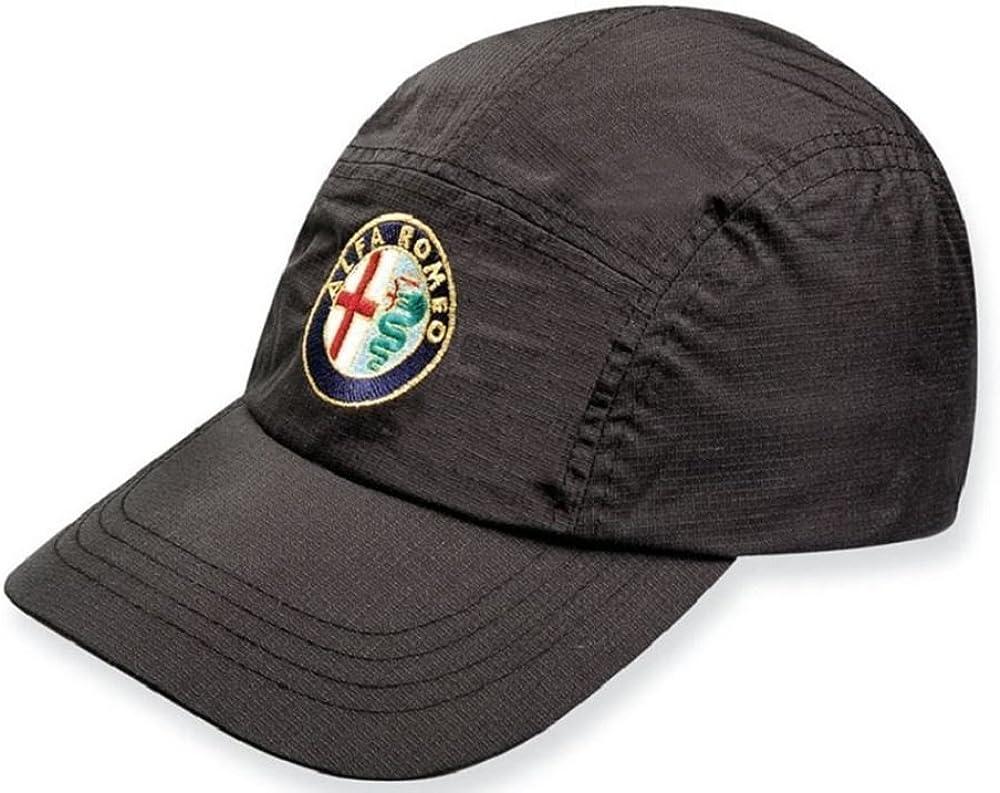 Alfa Romeo Waterproof Sportscar Embroidered Logo Badge Golf Black Cap