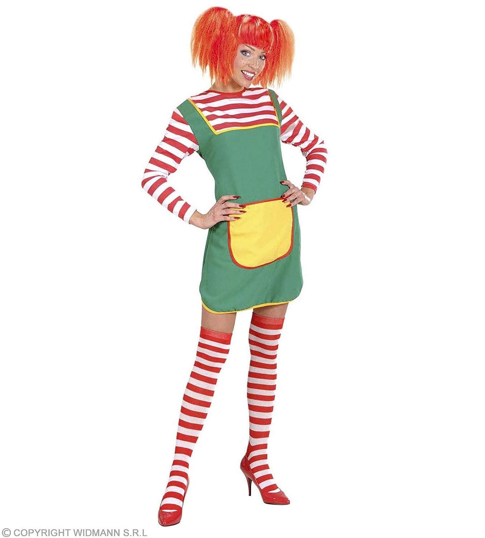Rojo One Size widmann-wdm2999r calcetines Pippi Langkous rayas blancas rojas Adulto mujer wdm2999r