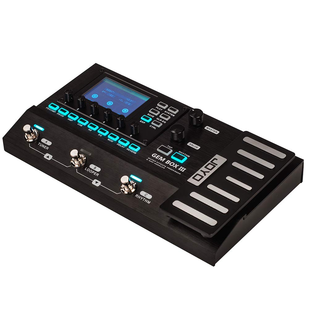 JOYO GEM BOX III Multi Effects Processor with 157 Effects and 61 Preamp Modulations, Music Instrument for Bass Acoustic Electric Guitar