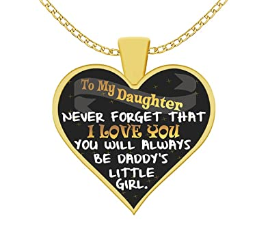 Amazon To My Daughter Pendant Necklace Uncommon Unique Birthday