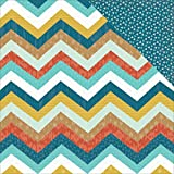"""My Minds Eye NOM535021 Happy Camper Double-Sided Cardstock, 12"""" x 12"""", Mountains, 25 Per Pack"""