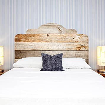 Charmant LNPP 3D DIY Wandaufkleber F¨¹r Schlafzimmer Imitation Bett Kopfteil  Holz Textur Wand Dekor