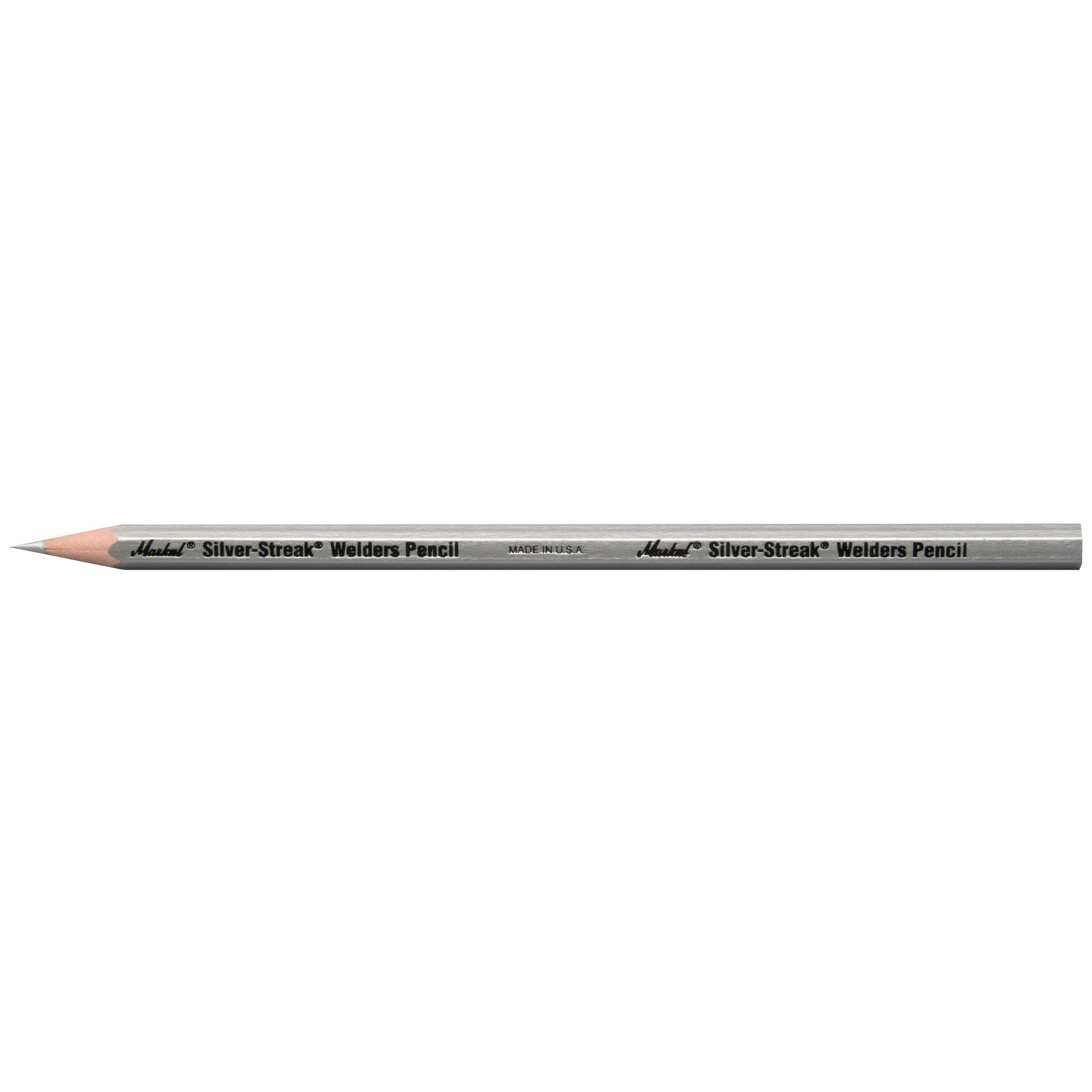 Markal 96101 Silver Streak Welders Pencil, Silver (Pack of 12)[New Improved Version]