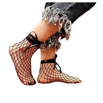 Women Fishnet Socks Inkach Trendy Womens Sexy Lace Fishnet Net Plain Top-Ankle Short Socks