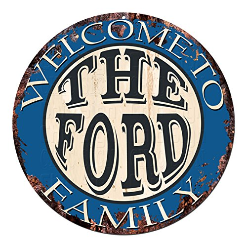 FAMILY Chic Tin Sign Rustic Shabby Vintage style Retro Kitchen Bar Pub Coffee Shop man cave Decor Gift Ideas (Ford Tin)