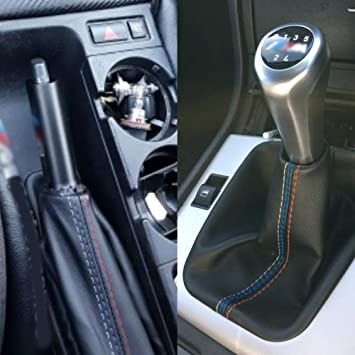 ReFaXi Car Gear Shift Knob Dustproof Cover Boot Gaiter Shifter Boot For BMW E36 E46 Black